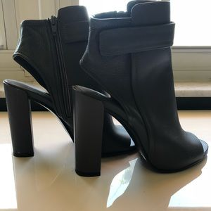 Vince Leather Ankle Boots